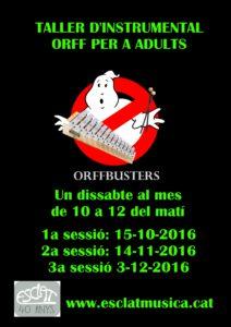 Orffbusters. Taller d'instrumental Orff @ Esclat Escola de Música | Manresa | Catalunya | Espanya