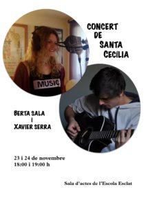 Concert de Santa Cecília. Berta Sala i Xavier Serra @ Esclat Escola de Música | Manresa | Catalunya | Espanya