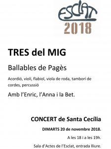 Concert de Santa Cecília. Tres del mig. Ballables de pagès @ Esclat, escola de música | Manresa | Catalunya | Espanya