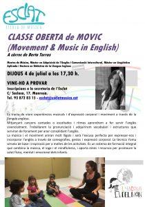 Classe oberta de MOVIC @ Esclat, escola de música