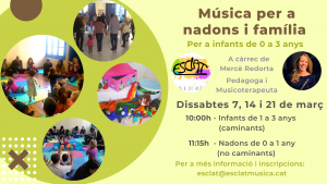 Música per nadons amb Mercè Redorta @ Esclat, escola de música